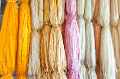 Thai silk from silkworm. Silkworm for Thai silk product Royalty Free Stock Photography