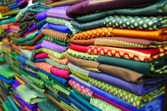 Thai silk. In a souvnir shop Stock Images