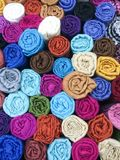 Thai silk. In Thailand Royalty Free Stock Photography