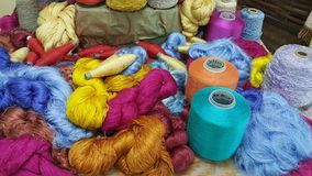 Thai silk thread royalty free stock images