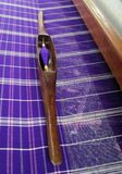 Thai Silk  tradition loom and shuttle weaving Royalty Free Stock Photography
