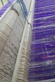 Thai Silk  tradition loom weaving Royalty Free Stock Photography