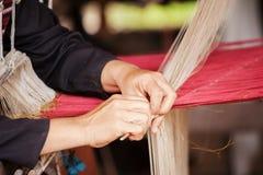 Thai Silk weaving Royalty Free Stock Photography