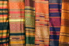 Thai Silks Stock Photography