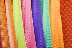 Thai Silks Royalty Free Stock Image