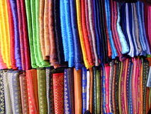 Thai silks, Chaing Mai, Thailand. Stock Photos