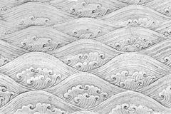 Thai silver pattern Crafts wall in the temple of thailand, Lanna style Chiang Mai, Thailand. royalty free stock photos