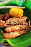thai skaldjur Arkivfoto