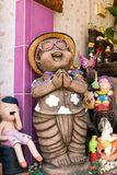 Thai Smile Clay Dolls Stock Images