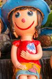 Thai Smile Clay Dolls Royalty Free Stock Images