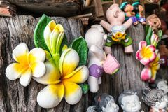 Thai Smile Clay Dolls Stock Image