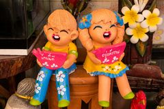 Thai Smile Clay Dolls Royalty Free Stock Image