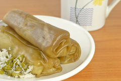 Thai snack. Kaw Kreab Pak Mo is a kind of Thai snack Stock Image