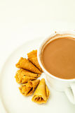 Thai snacks and hot drinks Royalty Free Stock Photo