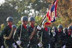 Thai Soldier in Royal Thai Armed Force Day 2014 Stock Images