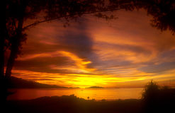 thai solnedgång Royaltyfri Fotografi
