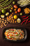 Thai Som tam, papaya salad Royalty Free Stock Photo