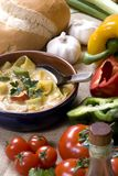 Thai Soup 002. Spicy homemade thai soup with chicken and fresh vegetables Stock Photo