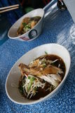 Thai soup with chiken Stock Photos