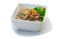 Thai soup with minced meat Royalty Free Stock Images