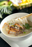 Thai Soup with Pork Royalty Free Stock Images