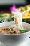 Thai Soup with Pork Stock Photo