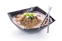 Thai soup with soba noodles Stock Photography