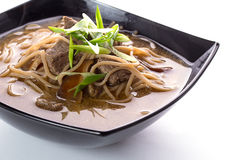 Thai soup with soba noodles Royalty Free Stock Photography