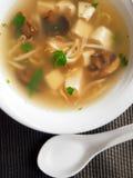Thai soup with tofu Stock Photos