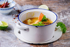 Thai soup Tom Yam Stock Image