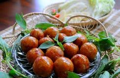 Thai sour pork sausage Stock Image
