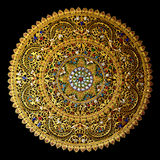 Thai south handicraft with color glass circle shape isolate Royalty Free Stock Photos