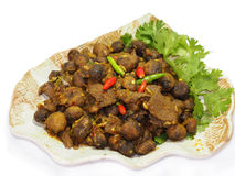 Thai southern food, Beef fried with chili curry. Thai name is Kua Gling Stock Image