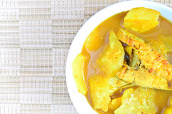 Thai southern Food, Yellow curry fish with pineapple Stock Images
