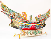 A Thai Southern-most traditional fishing boat, Kolek, Model Royalty Free Stock Images