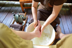Thai spa foot massage Stock Image