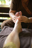 Thai spa foot massage Royalty Free Stock Images