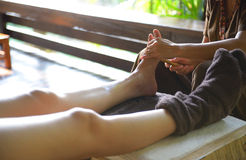 Thai spa foot massage Royalty Free Stock Photos