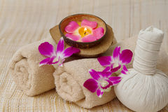 Thai Spa and Massage, healthy and beautiful Royalty Free Stock Images