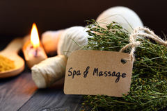 Thai spa and massage. Stock Image