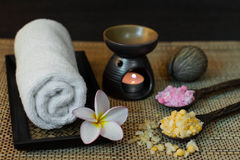 Thai spa massage setting Royalty Free Stock Images