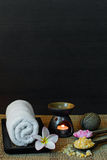 Thai spa massage setting Royalty Free Stock Image