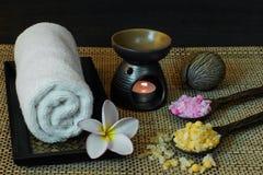 Thai spa massage setting Royalty Free Stock Images