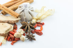 Thai spices isolated on white background Royalty Free Stock Photography