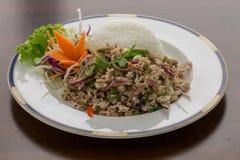Thai Spicy Chicken Salad (Larb Gai) Stock Photography
