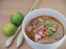 Thai spicy curry with pork Stock Image