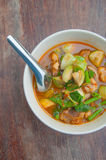 Thai spicy curry-vegetarian food Stock Photos