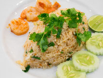 Thai spicy fried rice with shrimp Royalty Free Stock Photography