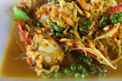 Thai Spicy fried seafood Royalty Free Stock Photos