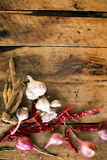 Thai spicy ingredient on wood background Royalty Free Stock Photography